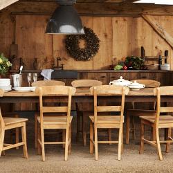 Oud eiken keuken landelijk wonen