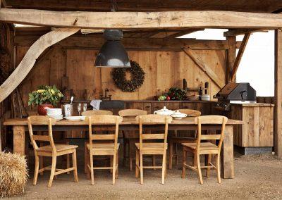 Oud eiken landelijke meubels