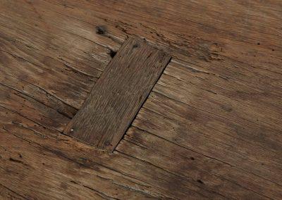 Reparatiestuk oud eiken tafel