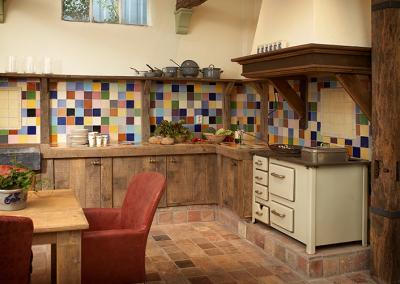 Oud eiken keukens