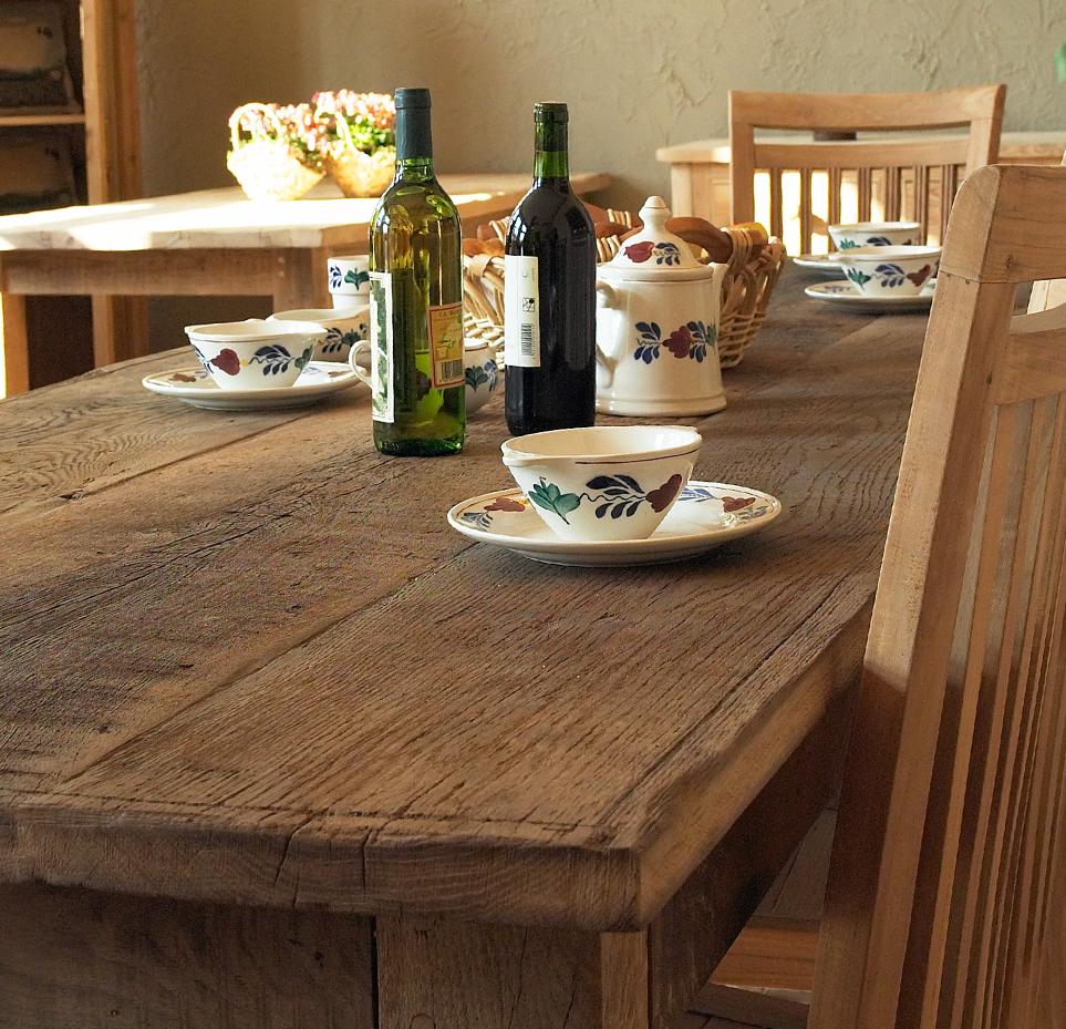 Landelijke stijl tafel