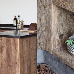 Landelijk wonen houten keuken
