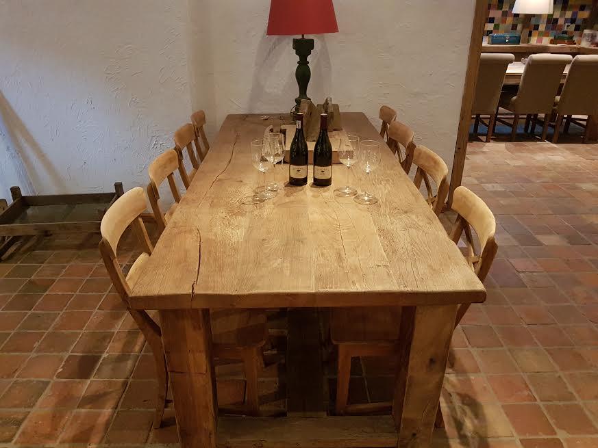 Oud eiken tafel 64