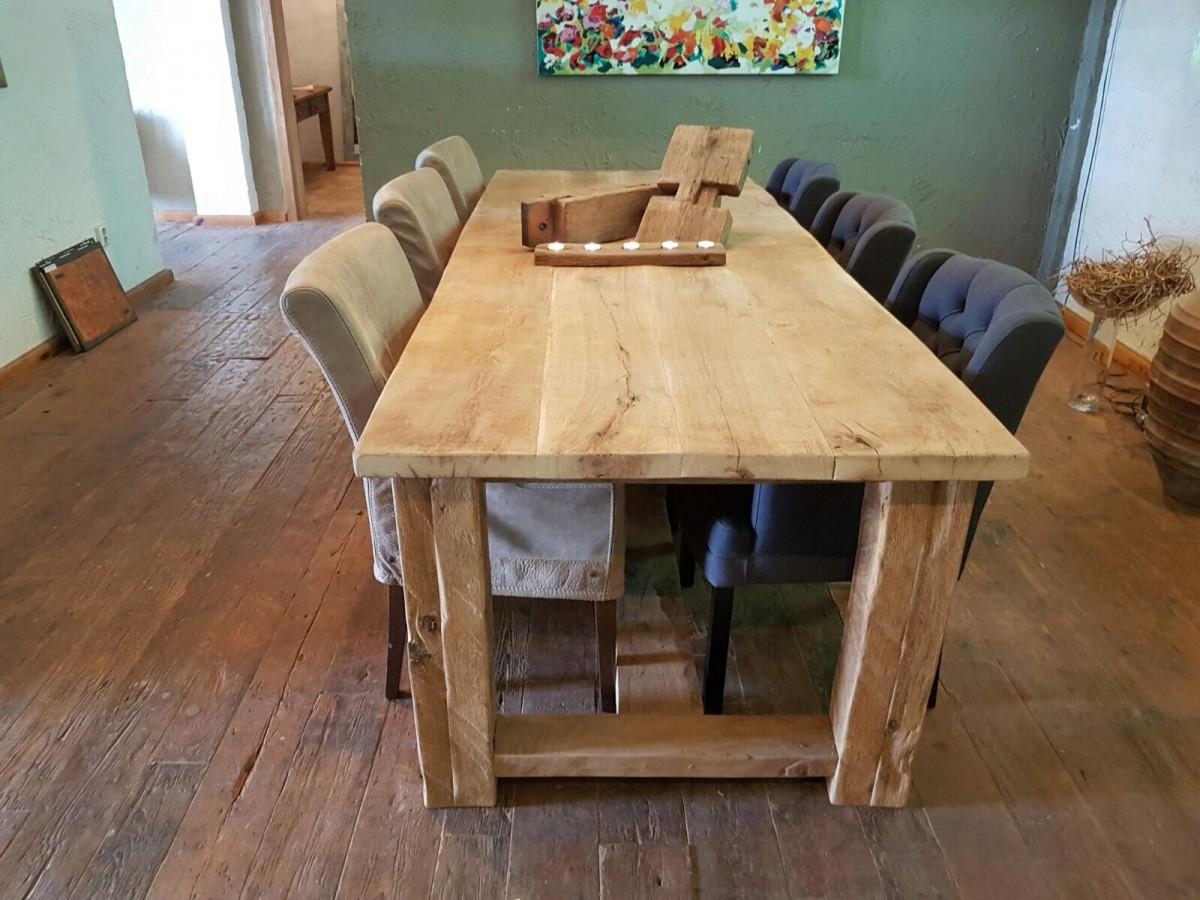 Robuuste Eiken Tafel : Robuuste grijze oud eiken tafel gebroeders de ruiter