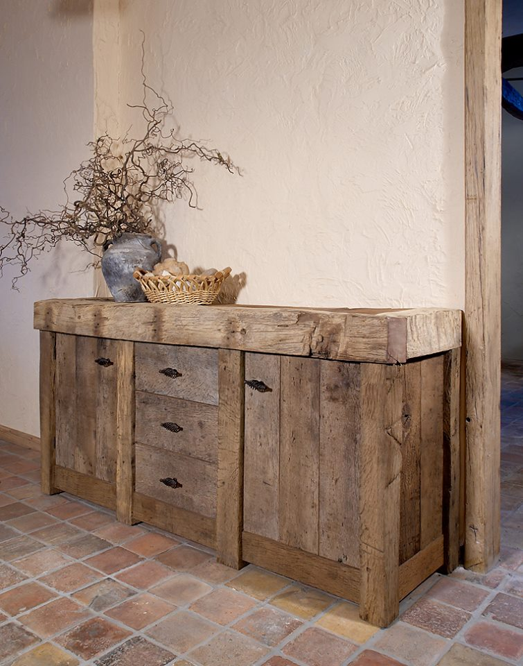 Oude eiken kasten van natuurlijk eiken hout gebr de ruiter - Oude meubilair dressoir ...