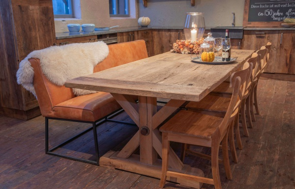 """Oud eiken tafel """"Wuppertal"""""""
